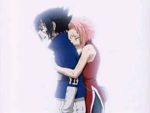 sakura begging sasuke not to fight.